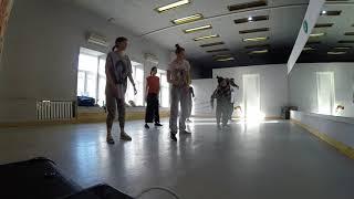 Урок House Dance - Качи, Упр. на ощущение пр-ва в танце, заходы - Мrs. Carl