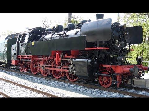 Feierliche Bahnhofseröffnung auf der Insel Usedom mit Sonderzug der Baureihe 86