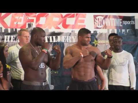 Strikeforce Heavy Artillery: Alistair Overeem vs. Brett Rogers weigh in video  St. Louis, MO  HD