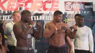 Strikeforce Heavy Artillery: Alistair Overeem vs. Brett Rogers weigh in video - St. Louis, MO - HD
