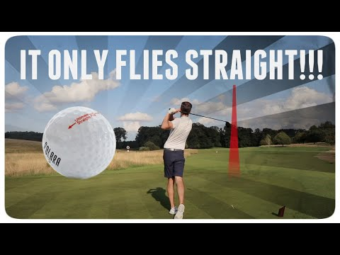 18 holes with illegal golf ball that only flies straight (as tested by Rick Shiels)