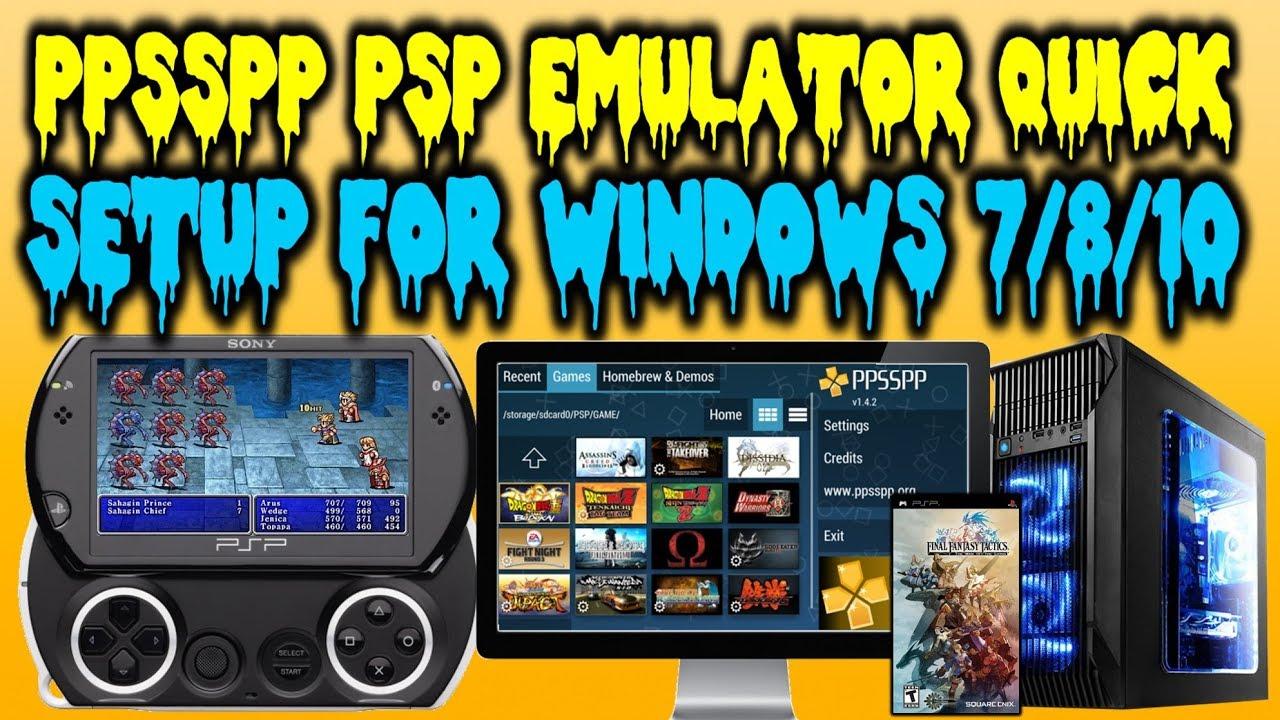 Ppsspp 1 9 3 Emulator Setup Windows 7 8 10 Psp Emulator Youtube