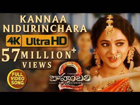 Kannaa Nidurinchara Full Video Song - Baahubali 2 Telugu | Prabhas, Anushka