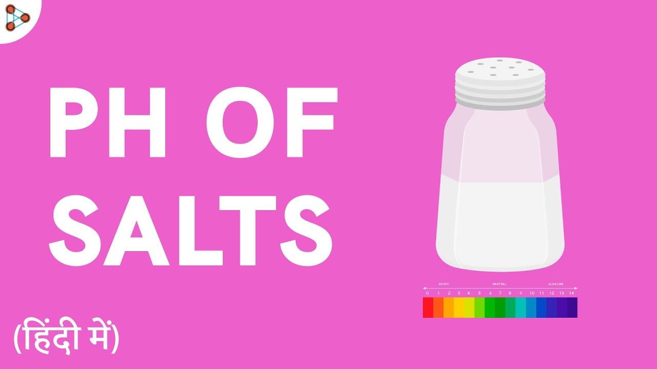 pH of Salts - CBSE 10- in Hindi (हिंदी में )