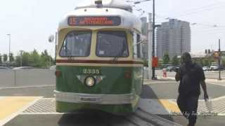 Old Streetcars PCCIIs in Philadelphia