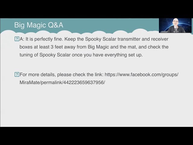 Q&A: Can I sleep with both Big Magic and Spooky2 Scalar overnight?
