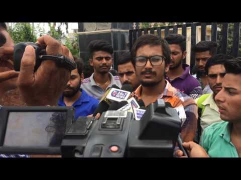 PROTEST AGAINST JAMMU UNIVERSITY II MEDIA INTERACTION II GDC UDHAMPUR
