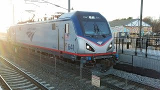Railfanning Kingston Station on the Day before Thanksgiving with lots of Amtrak Trains