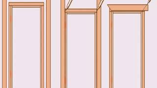 как установить наличники на окно своими руками