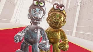Super Mario Odyssey - Gold Mario & Silver Luigi Final Boss + Darker Side