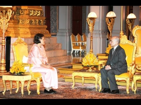 Princess Maha Chakri Sirindhorn During The Royal visit to the Kingdom of Cambodia TVK