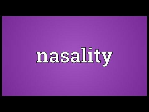 Header of nasality