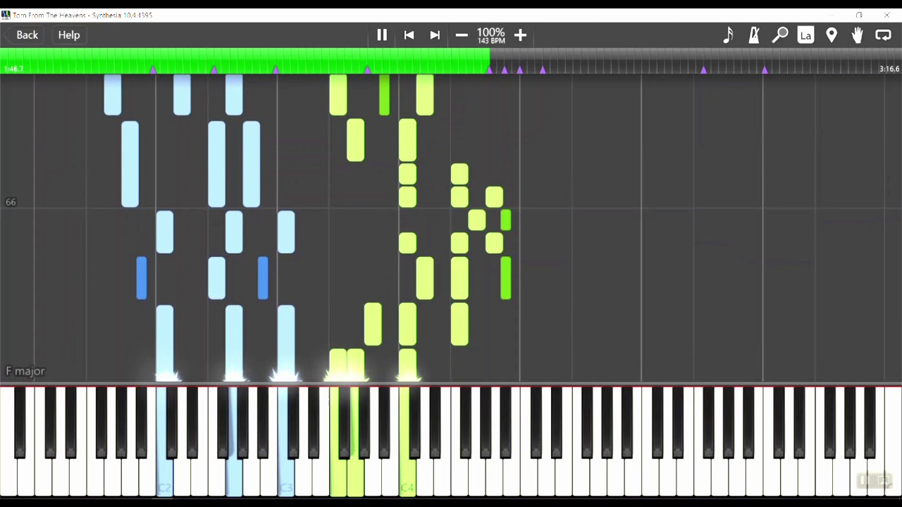Synthesia Tutorial: Final Fantasy XIV - Torn From the Heavens