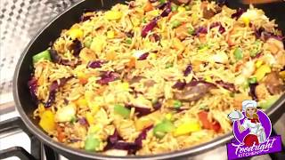 FRIED RICE WITH CABBAGE