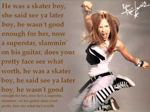 Avril lavigne skater boy lyric