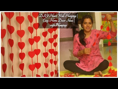 DIY Heart Wall Hangings | Easy Home Decor Ideas | Paper craft Hangings