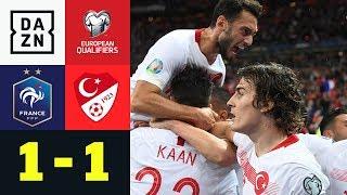 Türkei dank Ayhan Gruppenerster: Frankreich - Türkei 1:1   EM-Quali   DAZN Highlights