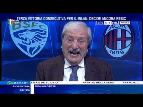 Brescia Milan 0-1 con Tiziano Crudeli
