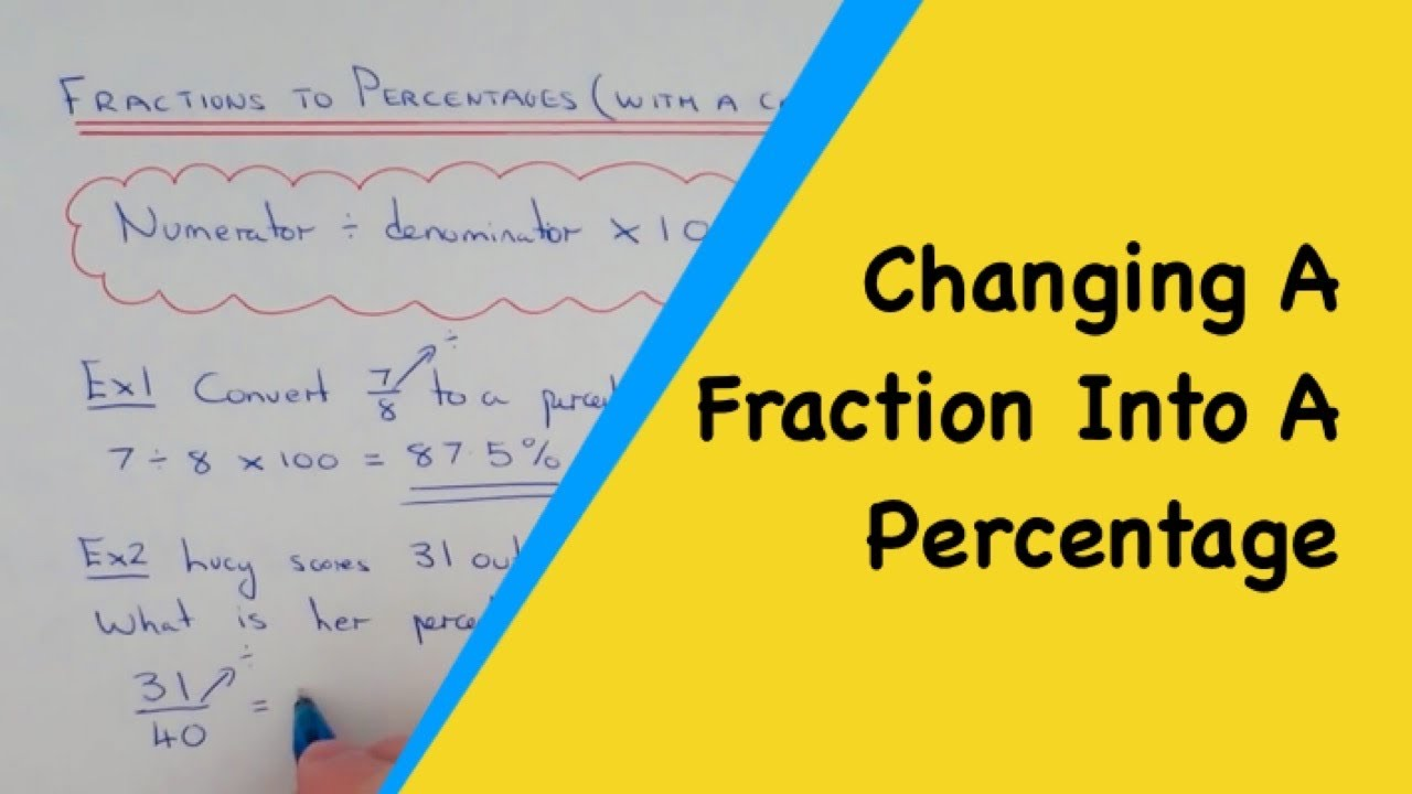 How To Change A Fraction Into A Percentage With A Calculator
