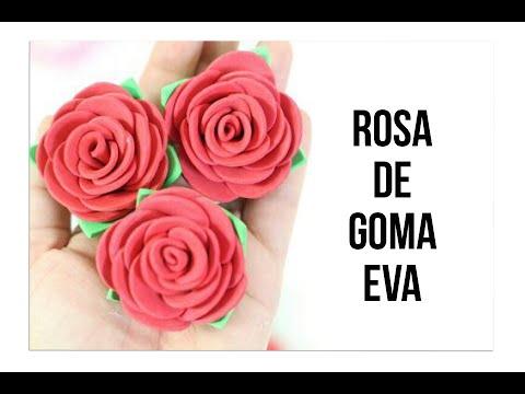 Como hacer rosa de goma eva youtube - Lamparas con goma eva ...