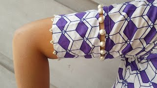 Beautiful sleeves Design with pearls cutting and stitching