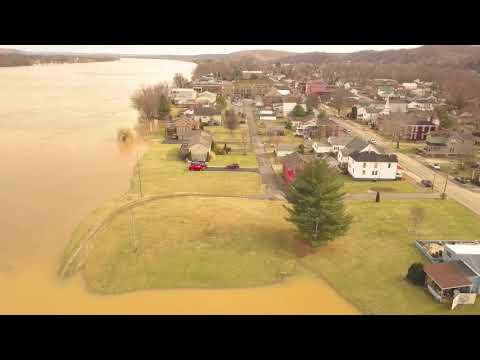Greenup County KY flooding 2-19-18 along the Little Sandy