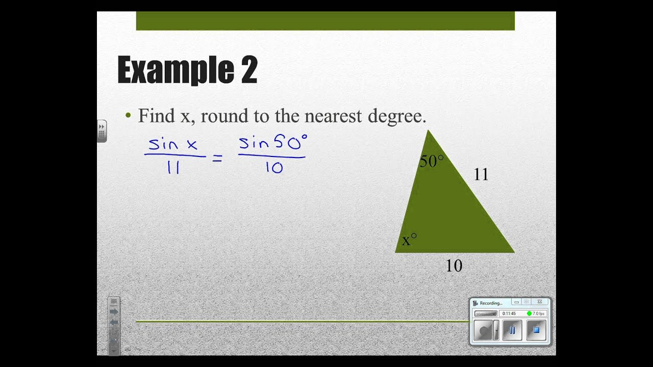 Geometry 8 6 Law Of Sines And Law Of Cosines