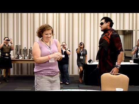 Fevercon 2010: Eric Etebari Jericho Barrons Gives Jenn her Birthday Whipping