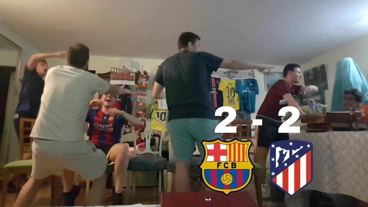 REACCIONES DE HINCHAS Barcelona vs Atlético de Madrid 2-2