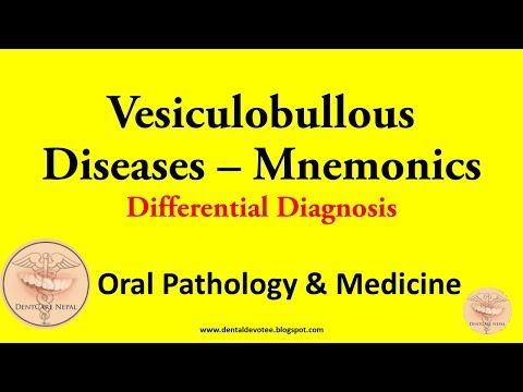 MNEMONICS - Vesiculobullous Diseases Differential Diagnosis - Oral Medicine and Pathology