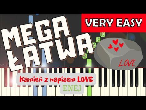 🎹 Kamień z napisem love (Enej) - Piano Tutorial (MEGA ŁATWA wersja) 🎹