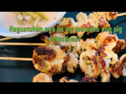 how to clean pig intestine- pork isaw  American husband reaction eating pork isaw