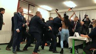 Çek Cumhurbaşkanı Zeman'a FEMEN saldırısı