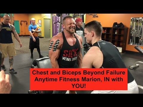 Chest and Biceps Beyond Failure at Anytime Fitness Marion, IN with YOU!