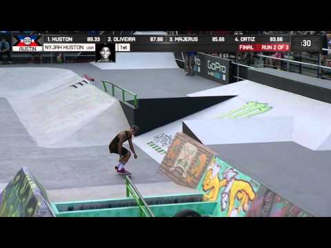 Nyjah Huston wins Skateboard Street Gold - ESPN X Games