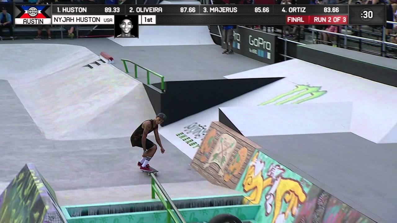 Nyjah Huston wins Skateboard Street Gold - ESPN X Games - YouTube 439fa6e9d86
