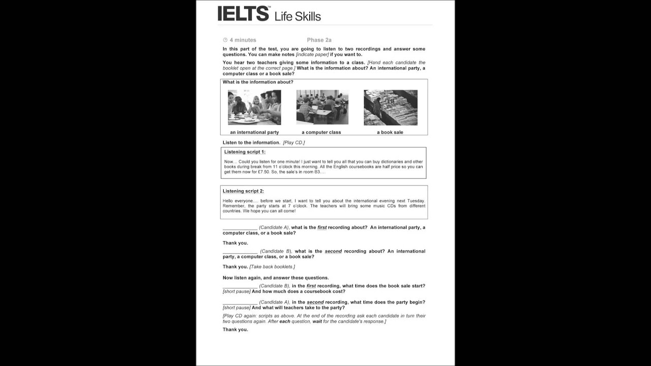 Part 1 of the ielts speaking test: introduction and interview.