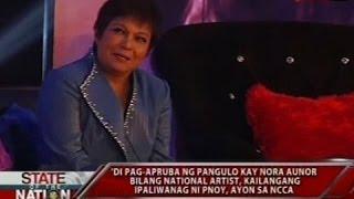 SONA: Hindi paghirang kay Nora Aunor bilang National Artist, kinukwestyon