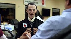 Happier than Dracula Volunteering at a Blood Drive - Car Insurance