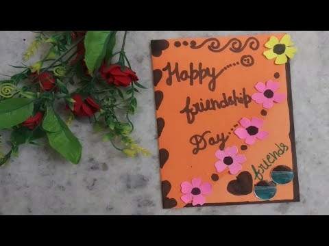 Happy friendship day card/ Friendship day greeting card