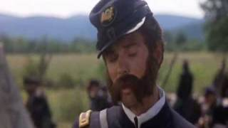 "Gettysburg Film : ""Billy Yank"" talking with ""Johnny Red"""