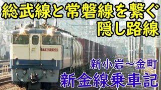 路線図には載ってない JR新金線に乗車【REXPゆう2】 新小岩駅~金町駅 thumbnail