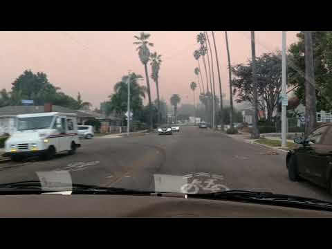 VENTURA CALIFORNIA FIRE - A look around town today!