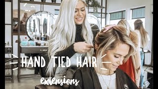 INSTALLING + BLENDING HAND TIED HAIR EXTENSIONS
