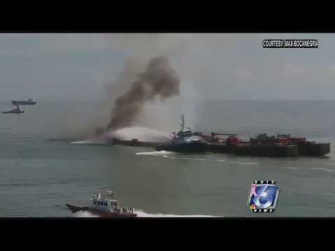 Latest on oil clean-up after barge fire