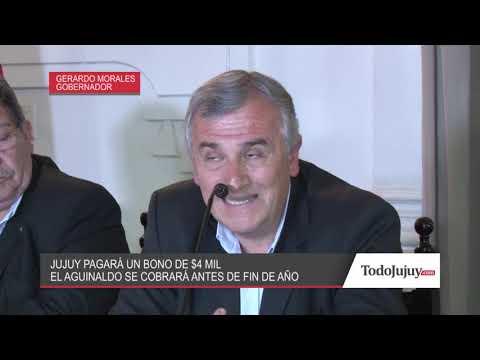 Morales anunció que pagará un bono extraordinario de 4000 pesos a los empleados estatales