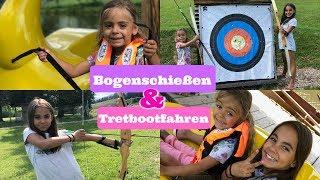 Bogenschießen und Tretbootfahren - Familien Urlaub in Österreich -  Vlog#1001 Rosislife
