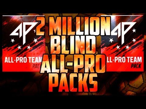MADDEN MOBILE 17 2 MILLION COIN BLIND ALL PRO TEAM PACK OPENING
