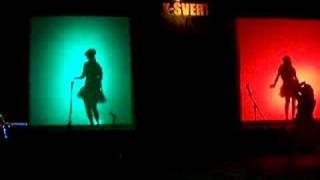 Silhouette dancing at Burning Man 2008