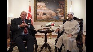 Diyanet İşleri Başkanı Erbaş, Almanya'nın Ankara Büyükelçisi Erdmann'ı kabul etti 2017 Video